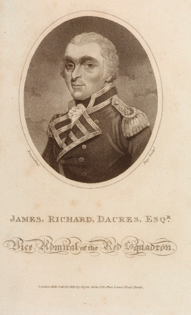 Detail of James Richard Dacres, Esq, Vice Admiral of the Red Squadron by R. Page