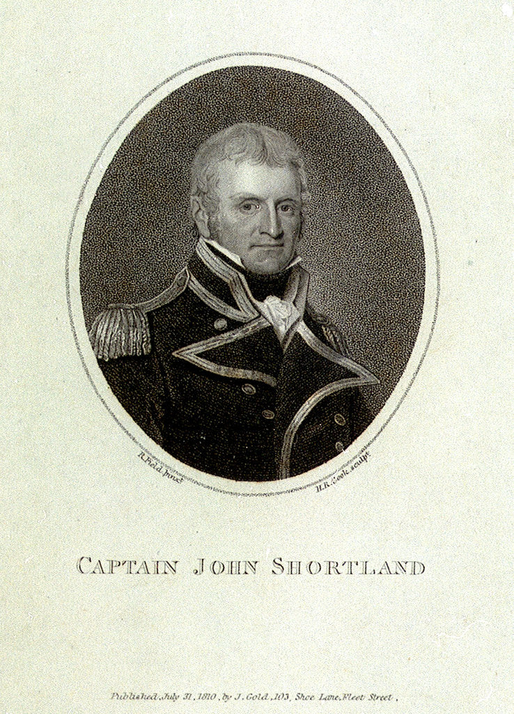 Detail of Captain John Shortland (1769-1810) by Robert Field