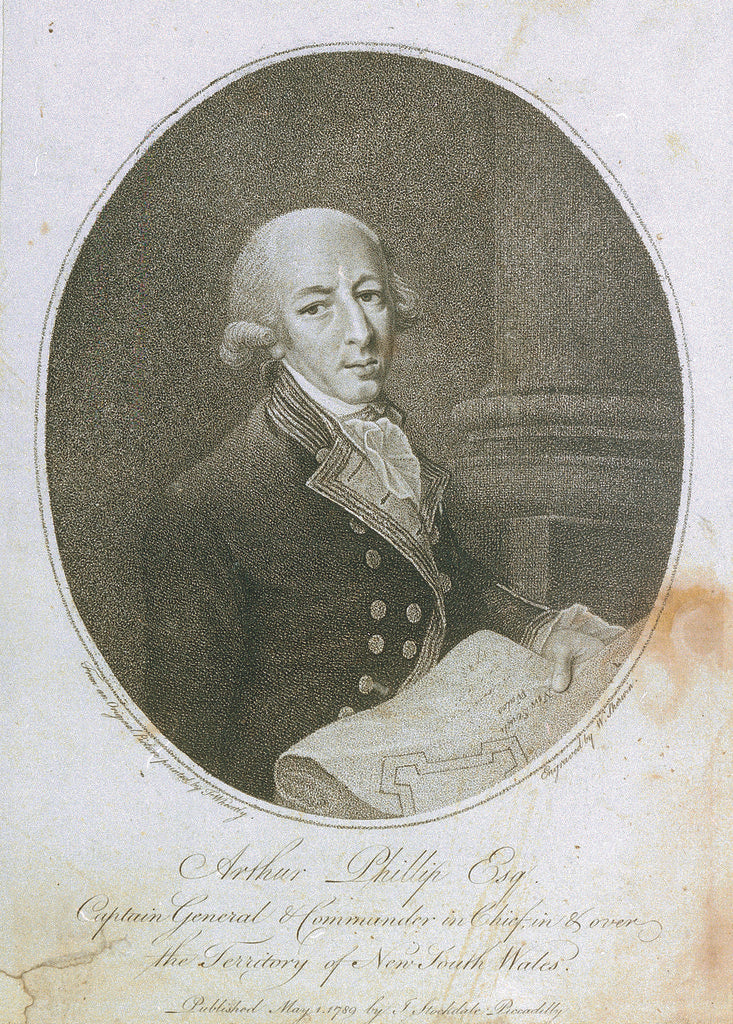 Detail of Arthur Phillip Esq Captain General & Commander in Chief, in & over the Territory of New South Wales by Francis Wheatley