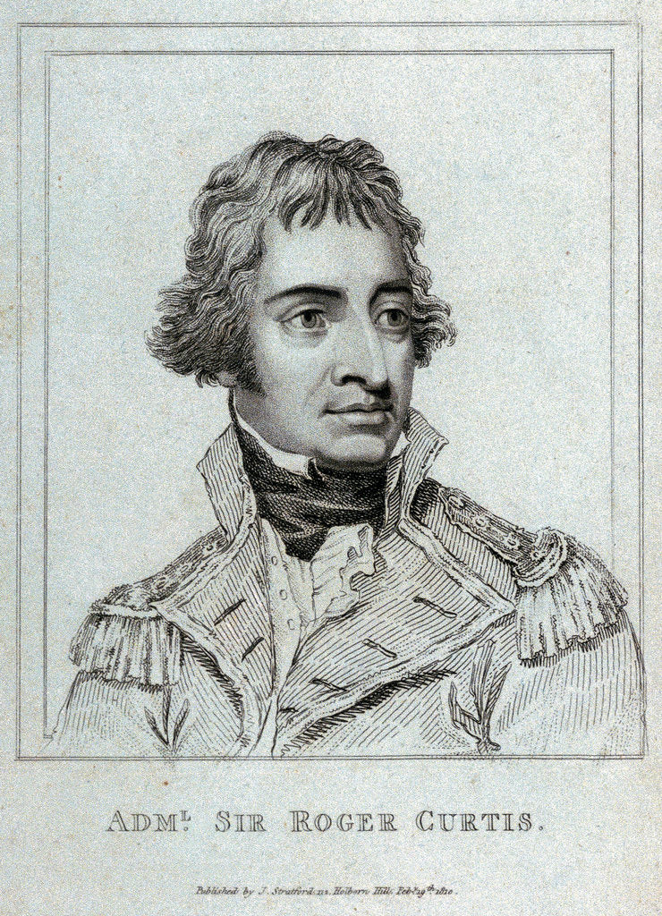 Detail of Admiral Sir Roger Curtis by J. Stratford