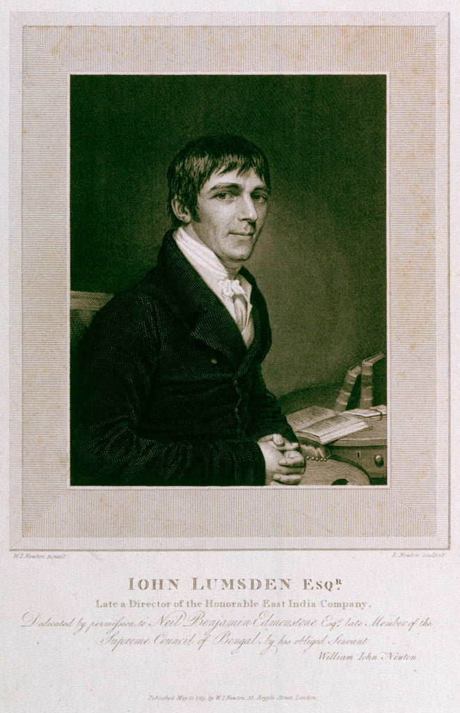 Detail of John Lumsden, Esquire by William John Newton