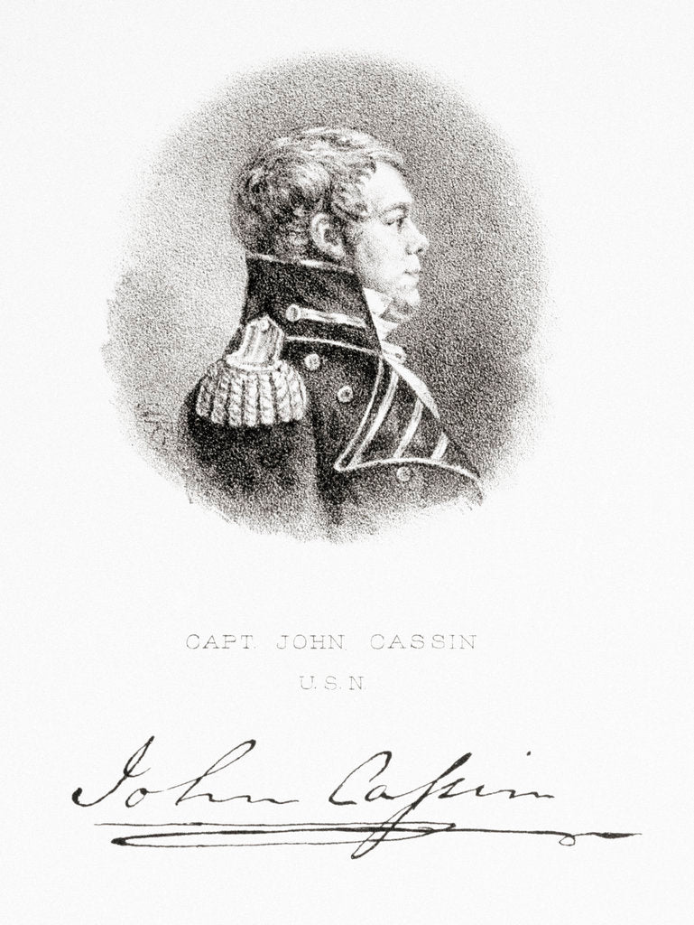 Detail of Captain John Cassin, United States Navy by G. R.