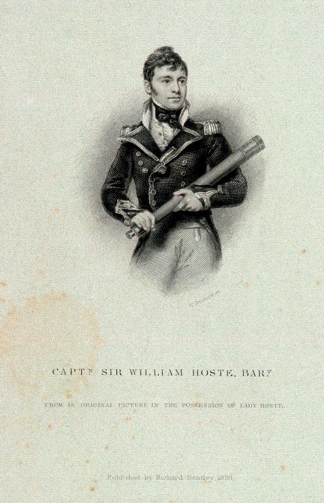 Detail of Captain Sir William Hoste, Bart by William Greatbach