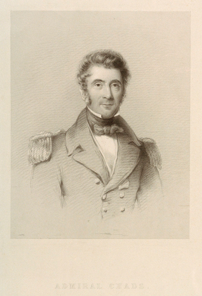 Admiral Sir Henry Ducie Chads (1788-1868) by unknown