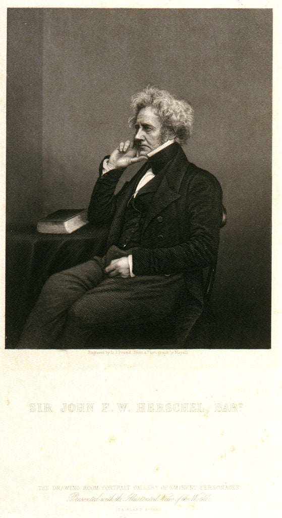Detail of Sir John F.W. Herschel, Bart. by John Jabez Edwin Mayall