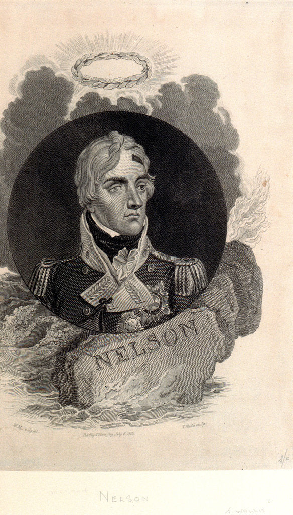 Detail of Horatio Nelson by William Marshall Craig
