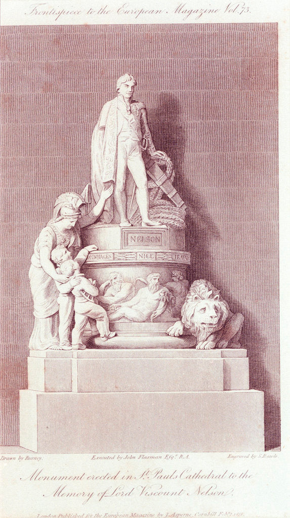 Detail of Lord Nelson's monument in St Paul's Cathedral by John Flaxman