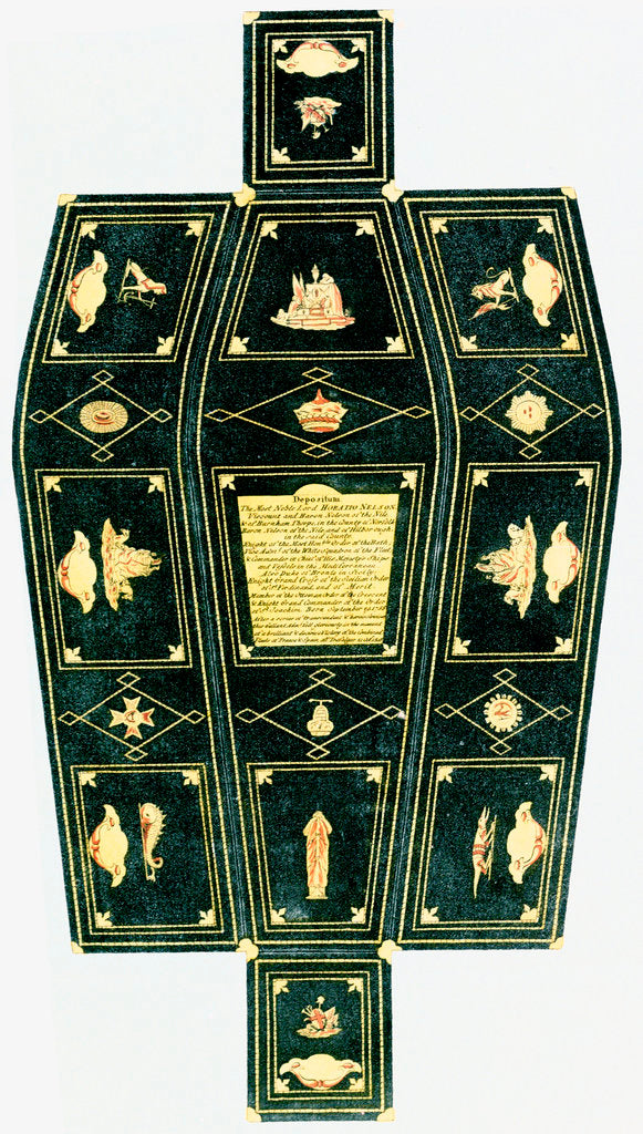 Detail of Nelson's coffin by unknown