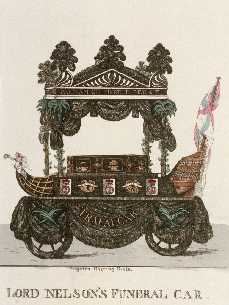 Detail of Lord Nelson's funeral car by Dighton