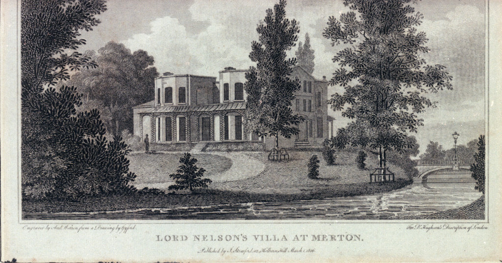 Detail of Lord Nelson's villa at Merton by Gyford