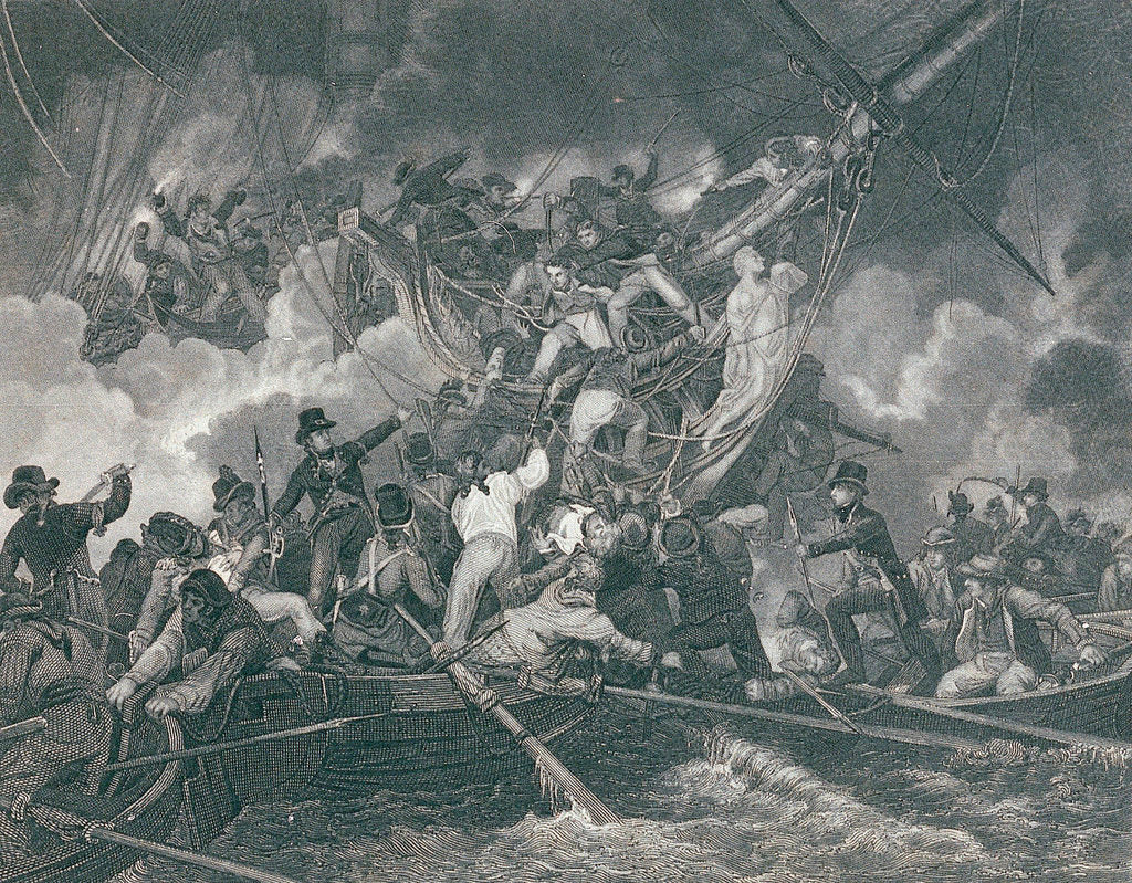 Detail of Action between 'Phoebe' and French frigate 'L'Africaine', 1 November1801, leading to the capture of the French ship by de Loutherbourg