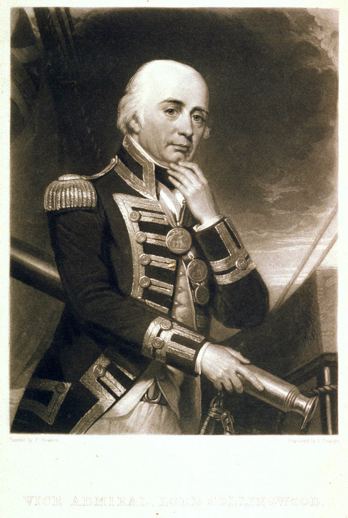 Detail of Vice Admiral Lord Collingwood by Frank Howard