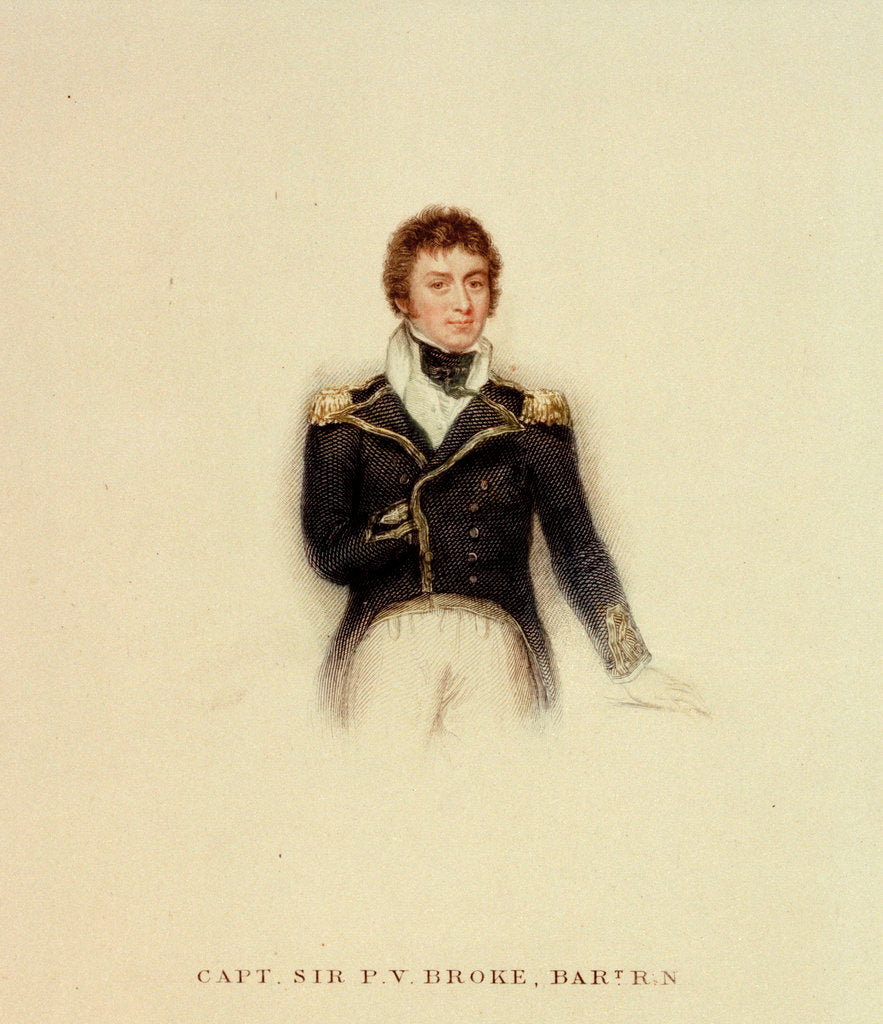 Detail of Captain P.V. Broke, Royal Navy by unknown