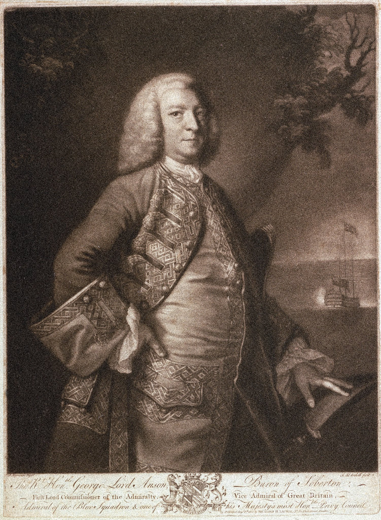 George Anson (1697-1762) by Joshua Reynolds