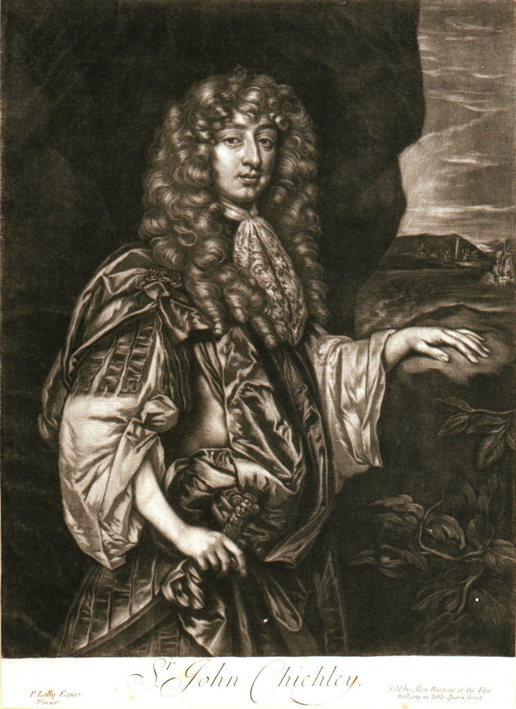 Detail of Sir John Chichley by Peter Lely