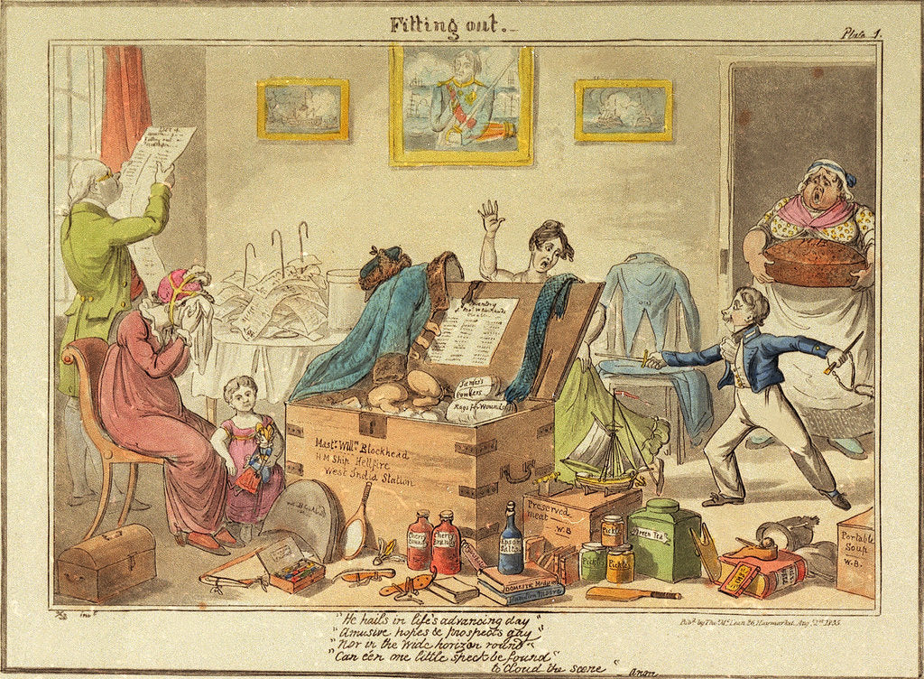 Detail of Fitting out Master William Blockhead by George Cruikshank