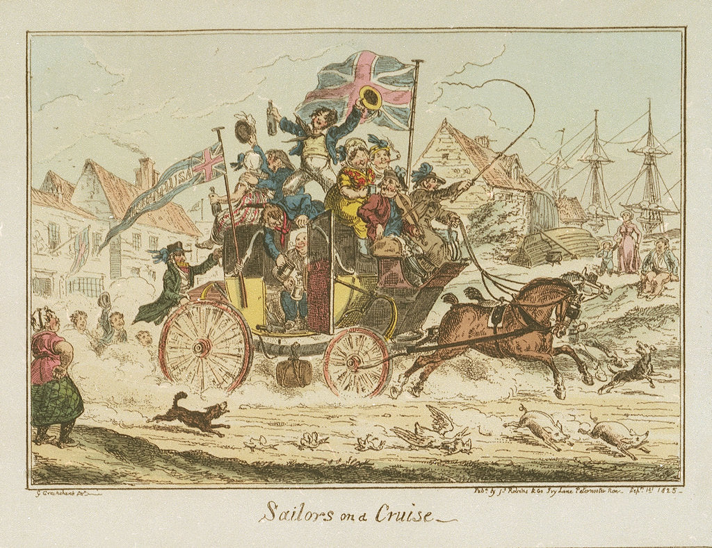 Detail of Sailors on a Cruise by George Cruikshank