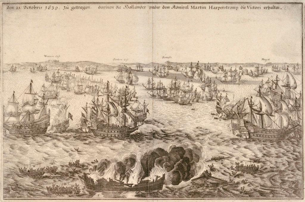Detail of Victory of the Dutch under Admiral Martin Harperstromp, 21 October 1639 by unknown