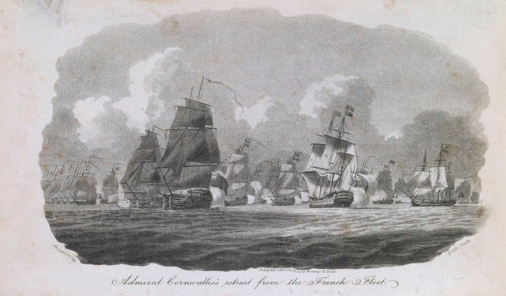 Detail of Admiral Cornwallis's retreat from the French fleet by William Anderson