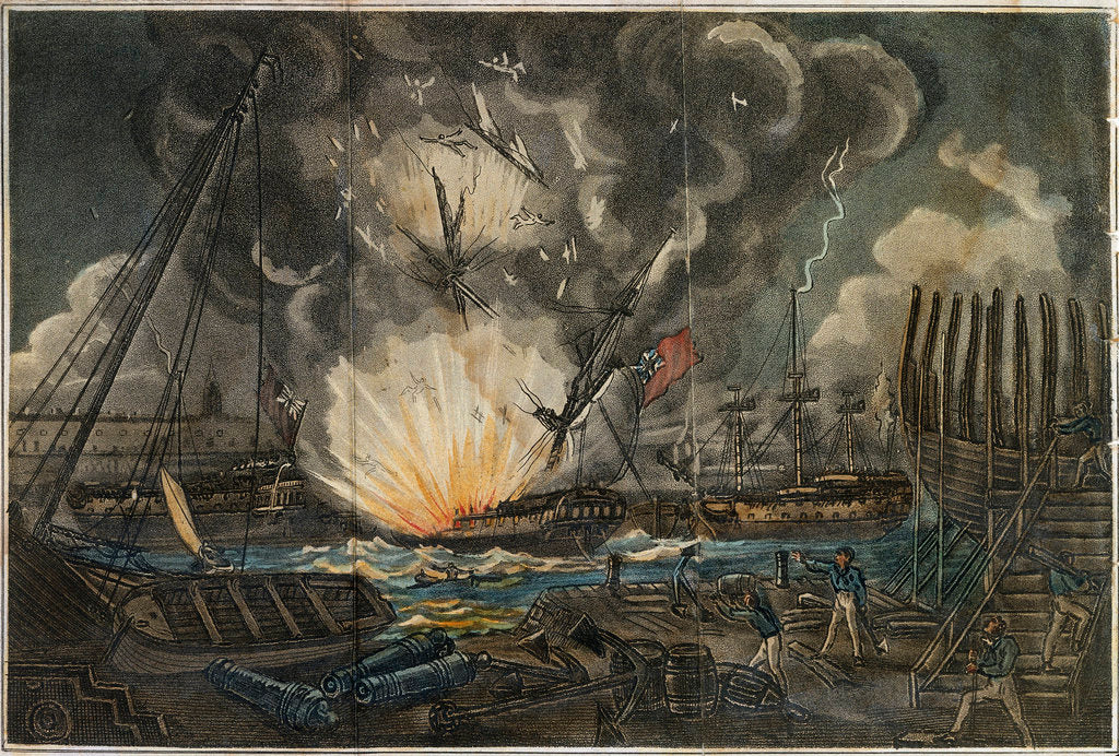 Detail of Dreadful Explosion of the Amphion frigate by unknown