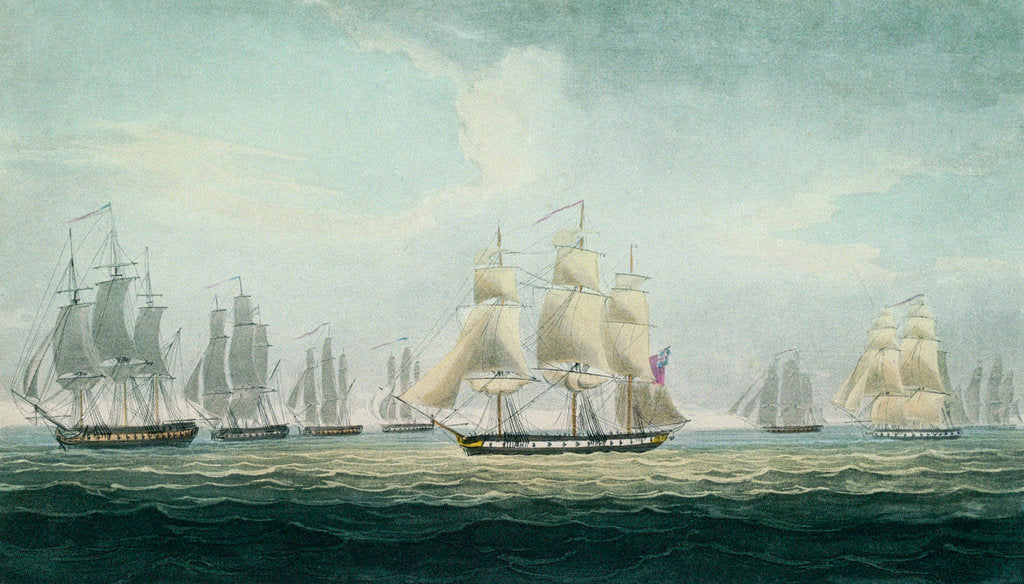 Detail of Sir Graham Moore's action, 5 October 1804 by Thomas Whitcombe