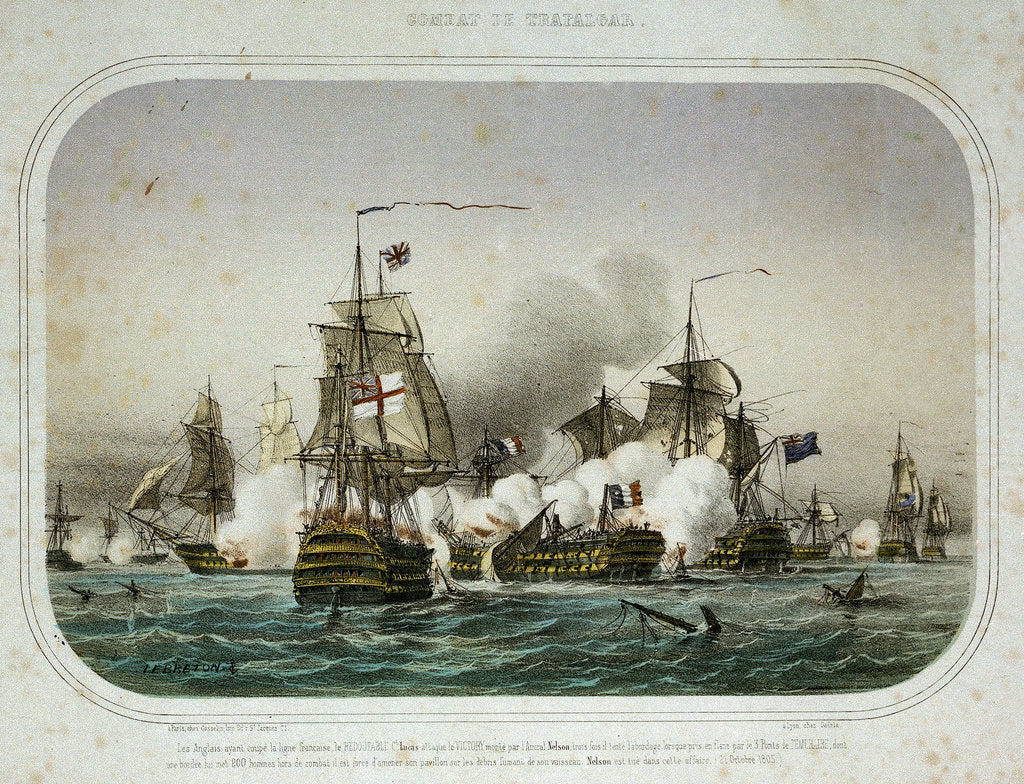The Battle of Trafalgar, 21 October 1805 by Louis Le Breton