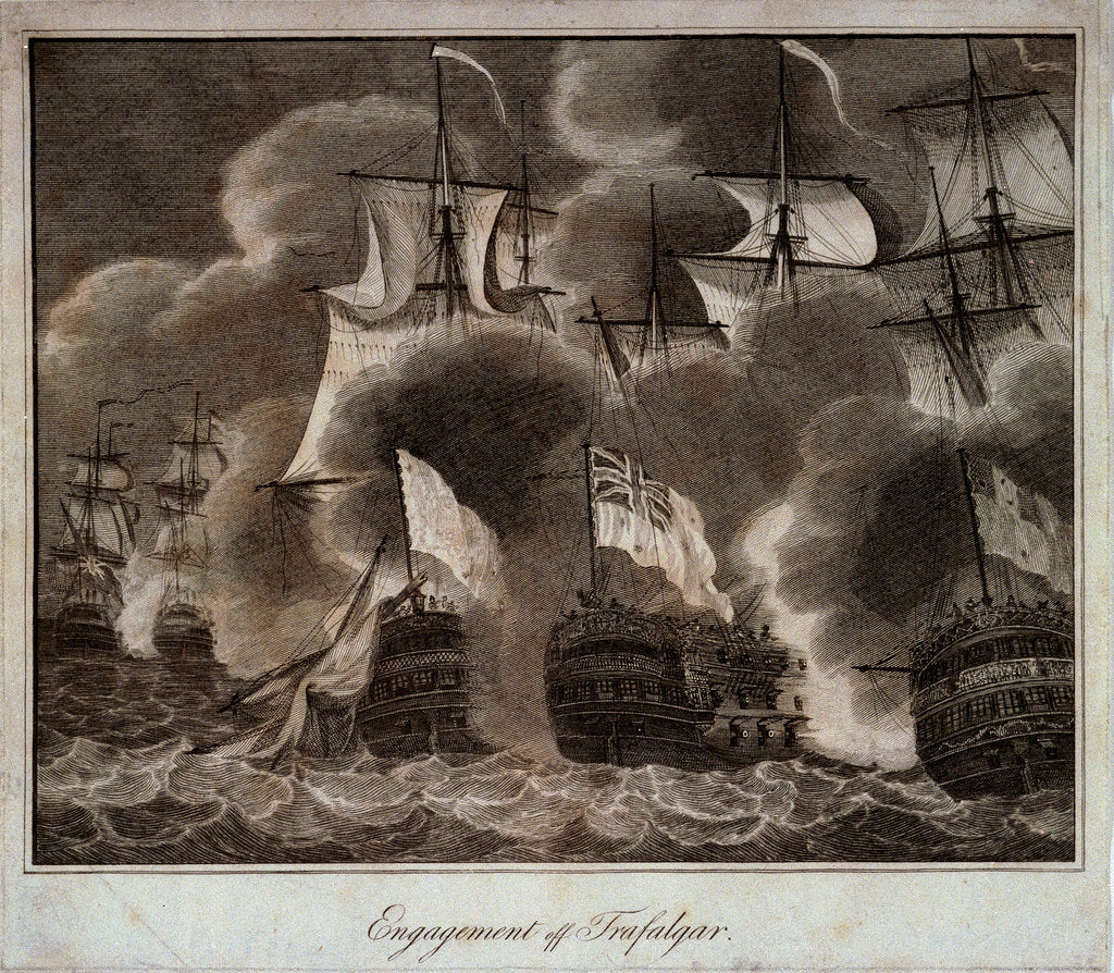 Detail of The Battle of Trafalgar, 21 October 1805 by unknown