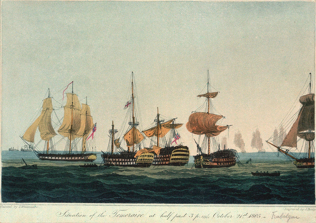 Detail of Situation of the 'Temeraire' at 3.30pm, 21 October 1805 by Thomas Whitcombe