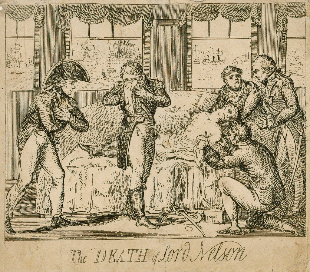 Detail of The death of Lord Nelson by unknown