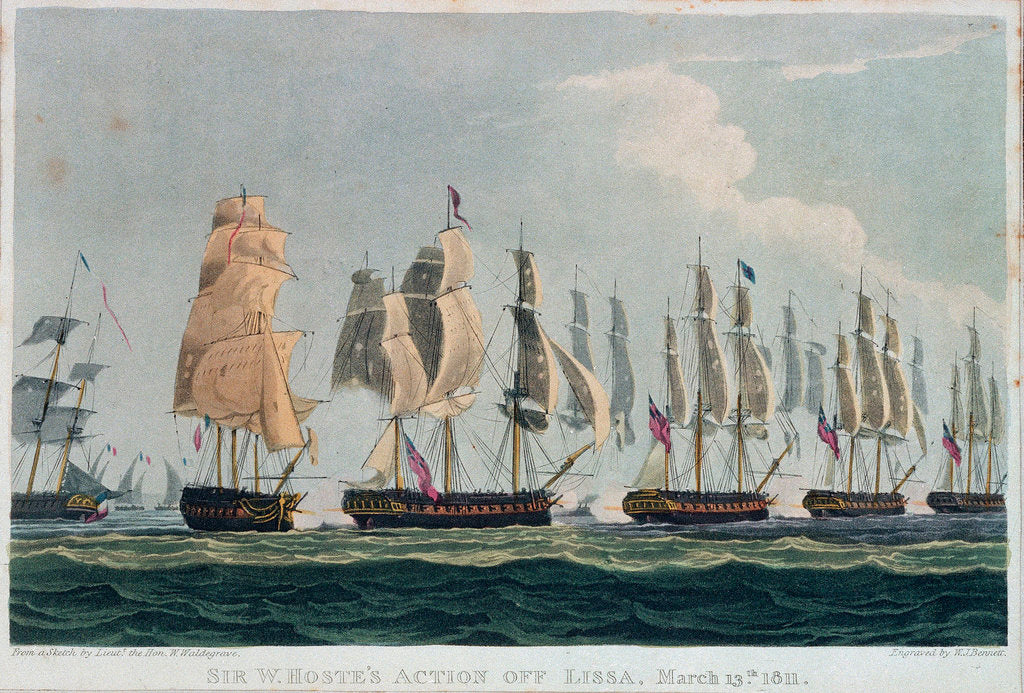 Action off Lissa, 13 March 1811 by William Waldegrave