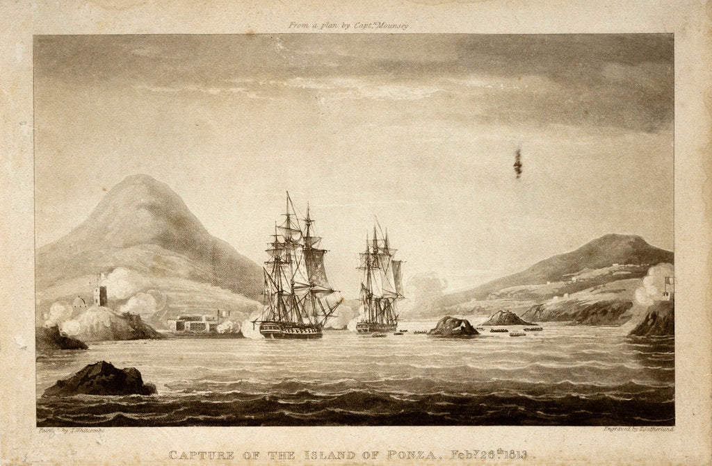 Detail of Capture of the Island of Ponza February 26th 1813. From a plan by Captain Mounsey by Thomas Whitcombe