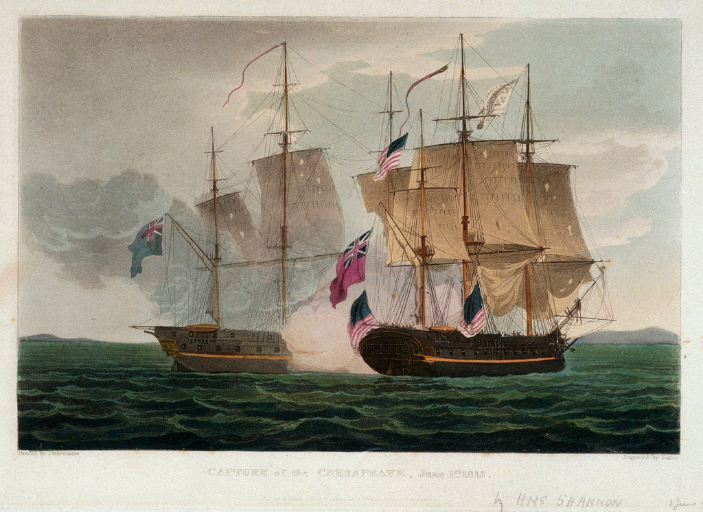 Detail of Capture of the 'Chesapeake', 1 June 1813 by Thomas Whitcombe