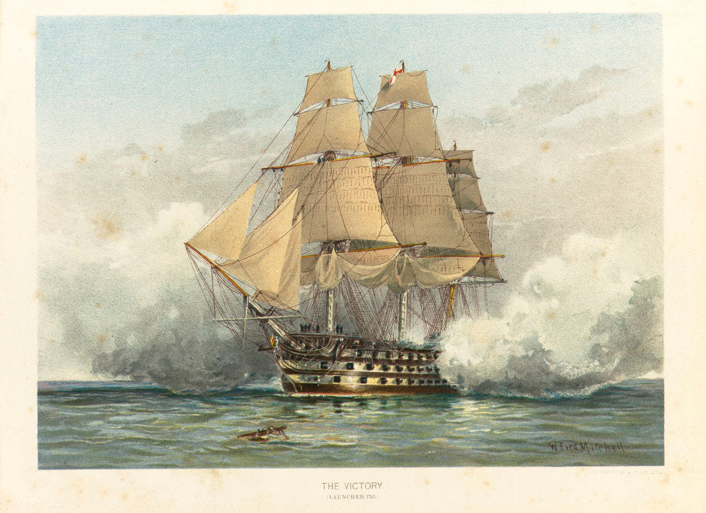 Detail of HMS 'Victory', launched 1765 by William Frederick Mitchell