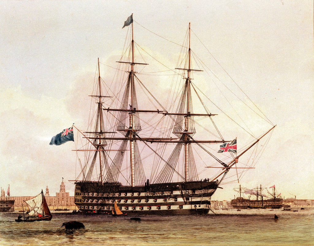 Detail of HMS 'Victory' by Edward William Cooke