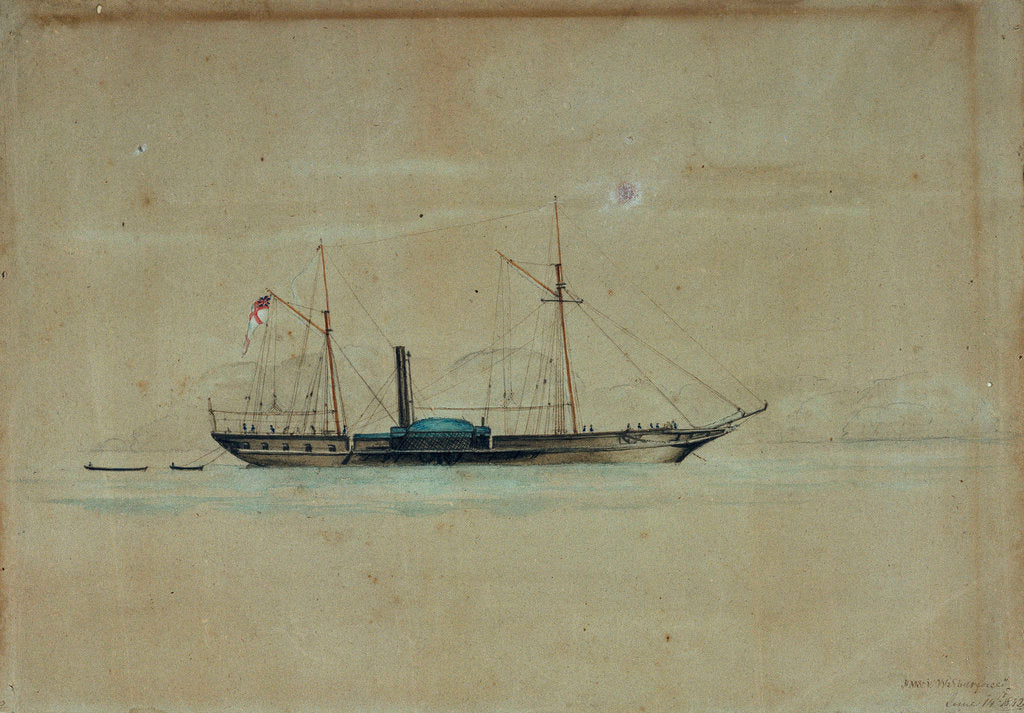 Detail of HMS 'Wilberforce', 14 June 1842 by W.H. Webb