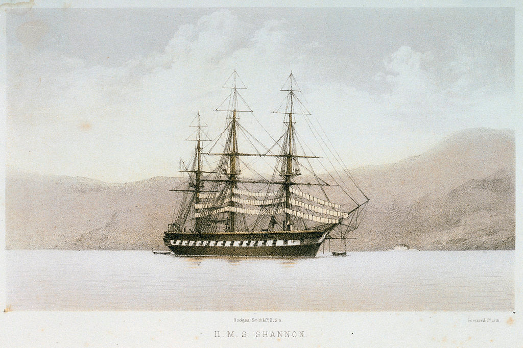 Detail of HMS 'Shannon' by Forster & Co