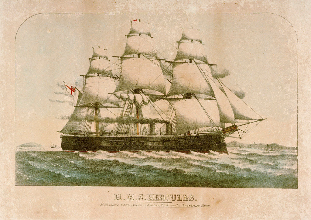 Detail of HMS 'Hercules' by H.M. Currie & Son