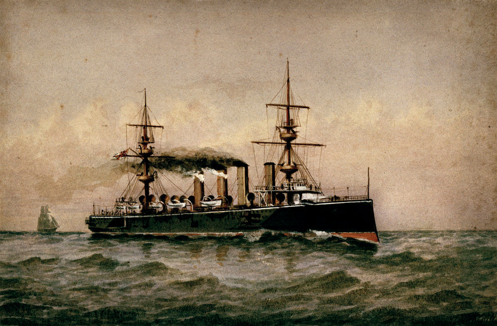 Detail of HMS 'Powerful' by H.J. Morgan