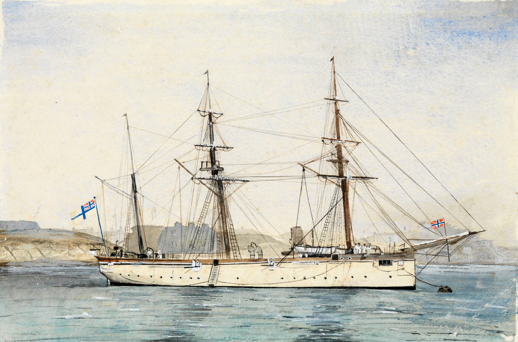 Detail of HMS' Mariner' (1884) by unknown
