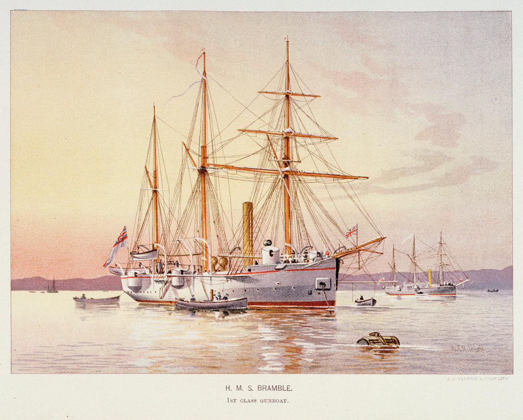Detail of HMS 'Bramble' by William Frederick Mitchell