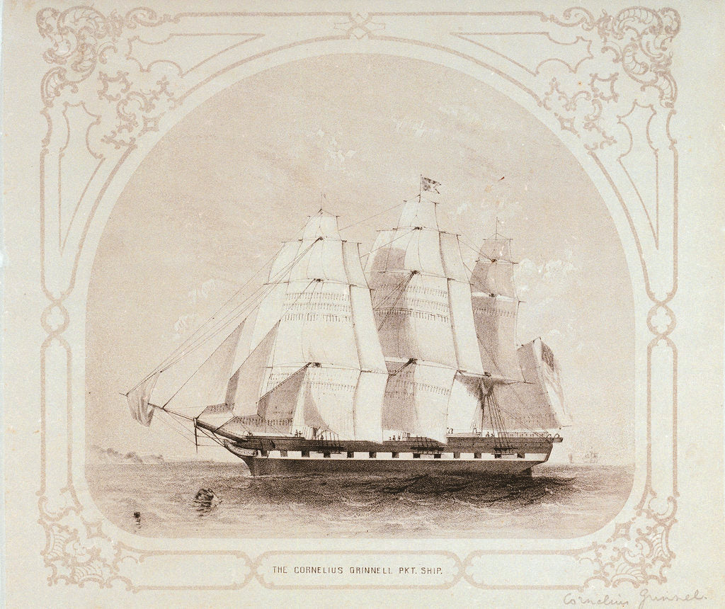 Detail of The packet ship 'Cornelius Grinell' by unknown