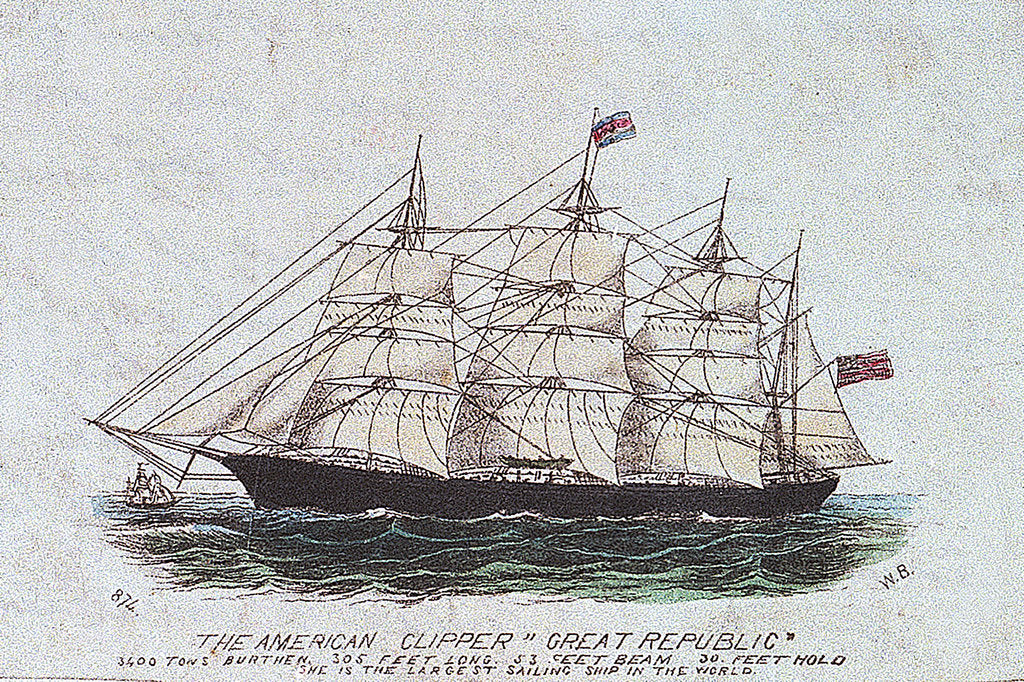 Detail of The American clipper 'Great Republic' by W. B.