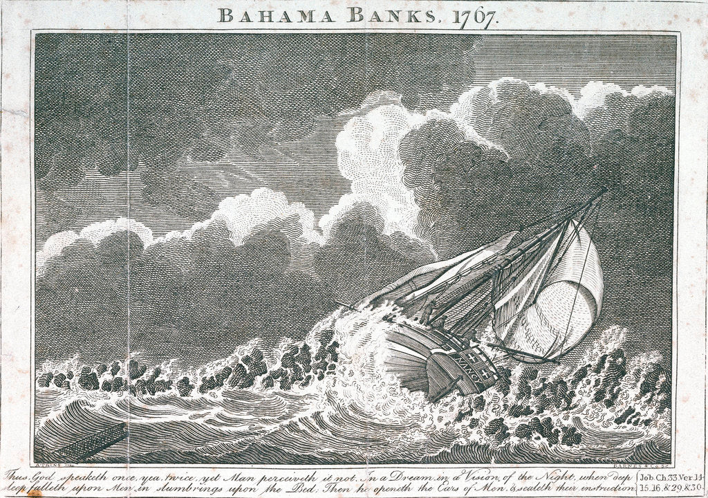 Detail of Bahama Banks, 1767 by Samuel Atkins