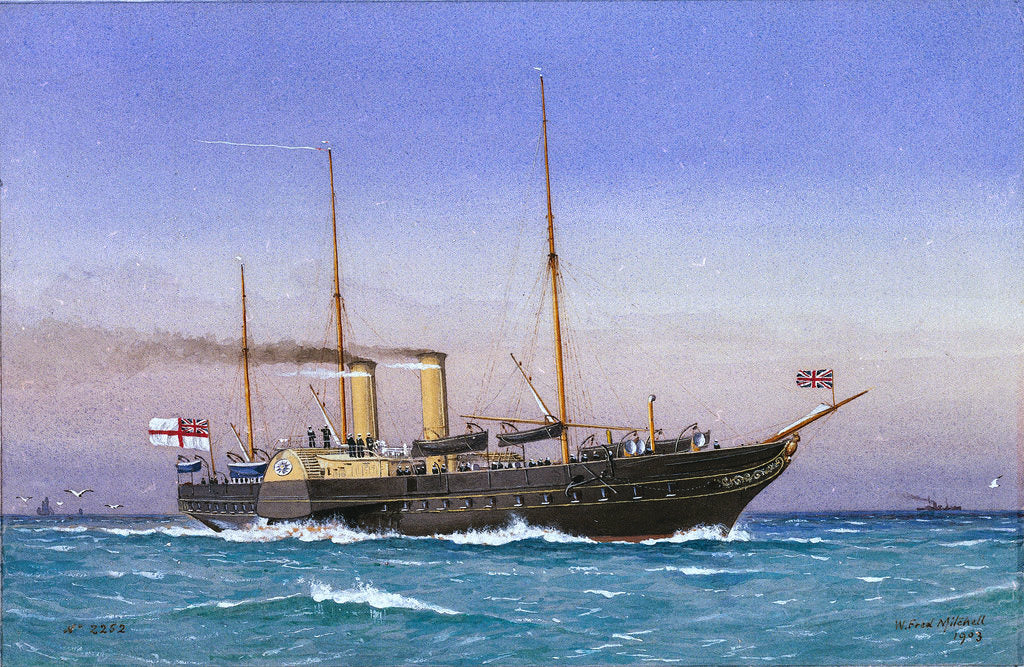 Detail of Royal yacht 'Osborne' (1870) by W. Fred Mitchell