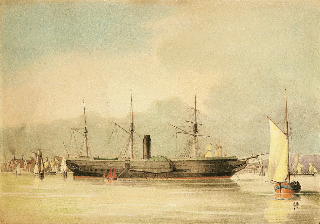 Detail of The steamship 'Oriental' by N.J. Kempe