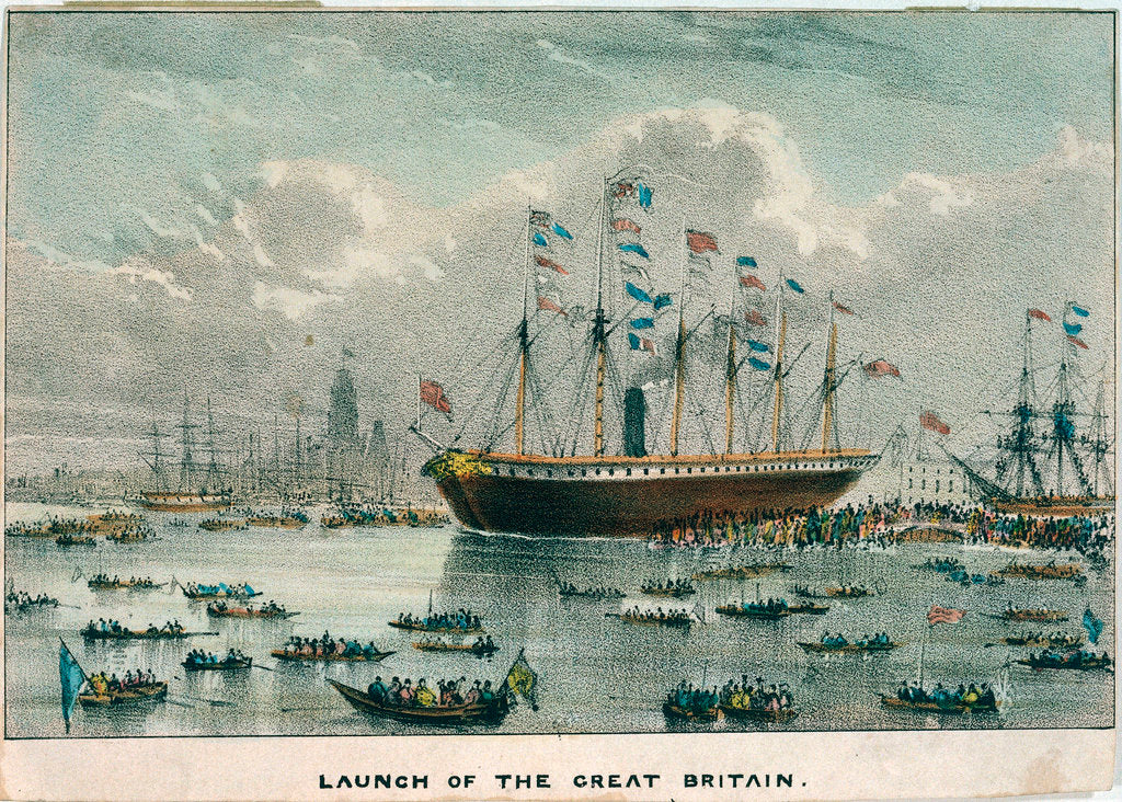 Detail of Launch of the 'Great Britain' by unknown