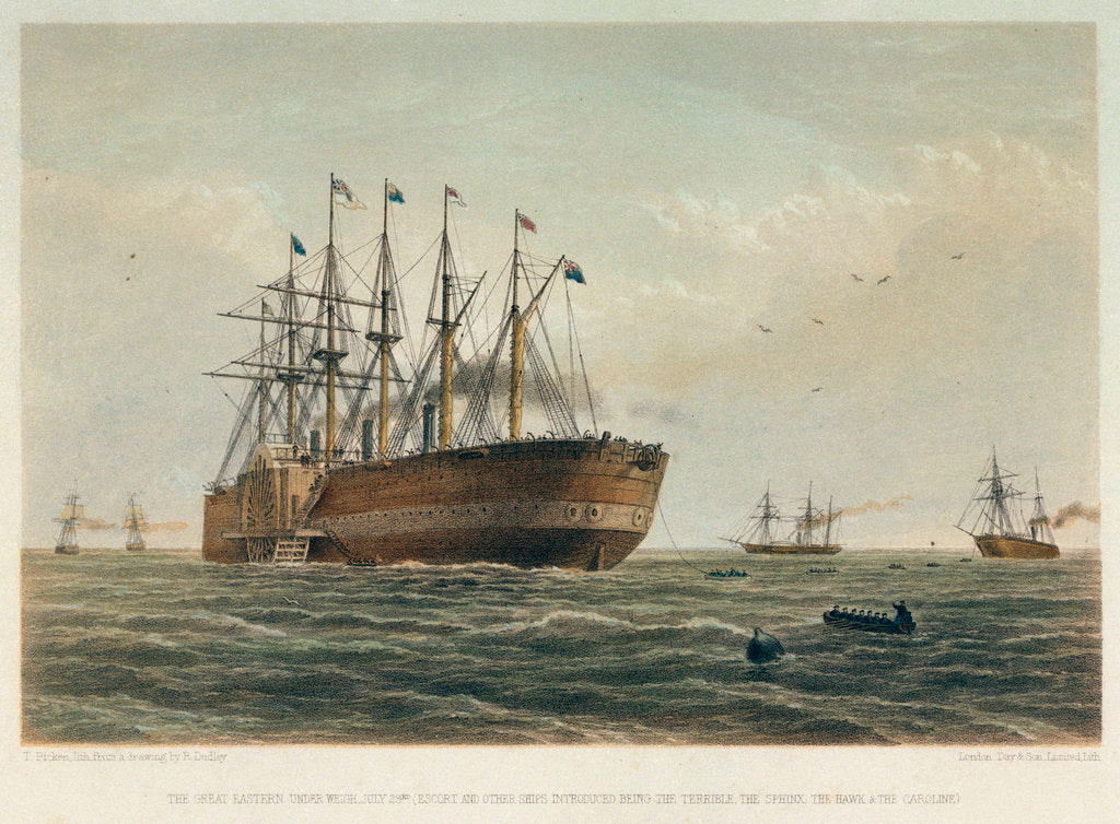 Detail of The 'Great Eastern' under way by R. Dudley
