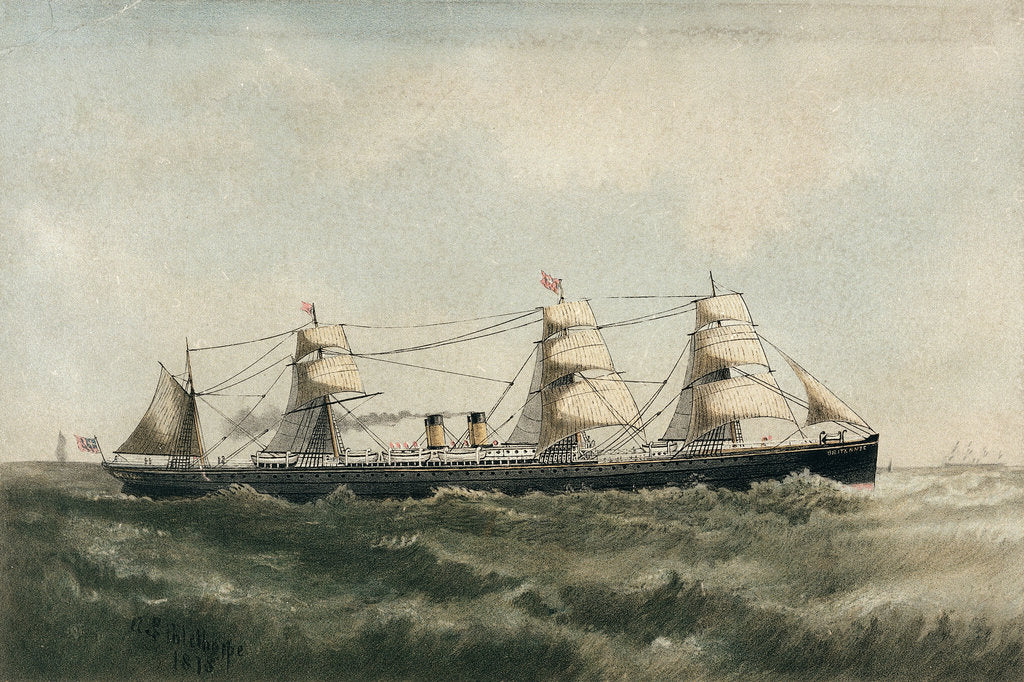 Detail of The 'Britannic' by A.S. Palethorpe