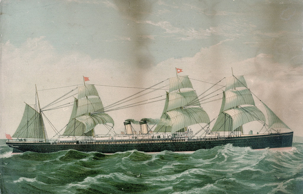 Detail of The 'Britannic' by unknown