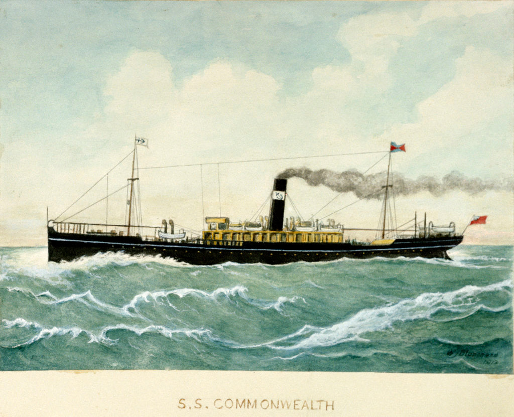 Detail of S.S. 'Commonwealth' by Blanchard